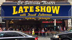 Late Show (Magic Hour Images) Tags: nyc newyorkcity newyork sign manhattan lateshow letterman davidletterman iphone edsullivantheater
