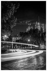 Parliament Square (h373n) Tags: blackandwhite bw london night nikon parliamentsquare lighttrails d3100