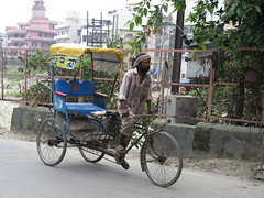 "Un cycle-rickshaw <a style=""margin-left:10px; font-size:0.8em;"" href=""http://www.flickr.com/photos/83080376@N03/15020834522/"" target=""_blank"">@flickr</a>"