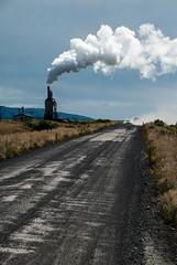 Desolation boulevard (Forgotten silver) Tags: road iceland empty smoke gravel