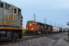 CREX 1212 Meet's BNSF 7878 (Machme92) Tags: railroad trees sky cn tracks rail trains row canadian bn rails cp railfan bnsf railroads csx railroading crex railfanning railfans trainmeet trainrace burligrton