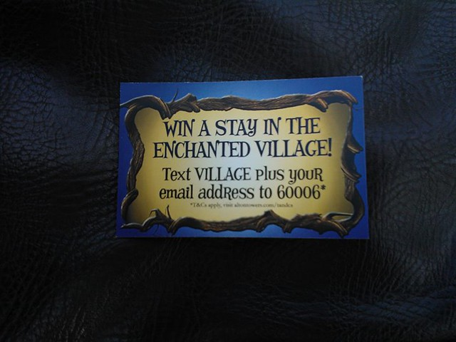 You can now win a stay in the new Enchanted Village.