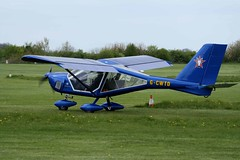 G-CWTD (IndiaEcho Photography) Tags: england canon airplane eos kent airport general aircraft aviation aeroplane rochester chatham civil airfield gravesend rcs a22 foxbat aeroprakt egto 1000d gcwtd