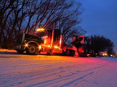 Haulin' the Harvester (jr-transport) Tags: ontario fort forestry timber transport logging jr pro frances peterbilt oversize jsd 379 379x