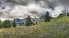 Drosleloch 2014 (stega60) Tags: trees panorama naturaleza mountain nature clouds forest landscape schweiz switzerland countryside scenery heaven suisse natur himmel wolken paisaje scene berge paysage landschaft wald bume hdr berner stiched oberland regin swizzera louwenesee saariysqualitypictures stega60