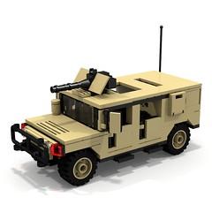 BRIX Military HMMWV V1.0 Squareback Tan A (IK) Tags: lego military hummer ldd hummvee