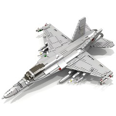 BRIX Military F-18E Super Hornet V1.0 (ЯIK) Tags: lego aircraft military jet ldd