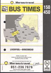 Merseytravel (Wirral) Timetable Route #150, 450 (From 10th June 1994) (Luke O'Rourke) Tags: merseytravel merseybus liverpool wirral westkirby birkenhead birkenheadwoodside crosville timetable timetables newbrighton bromborough bus
