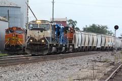 Odd ball power for 2014.. (Machme92) Tags: railroad rail row bn rails ge railyard railfan bnsf railroads railroading emd cefx railfanning railfans sd70mac bnsfkline burligrton