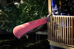 Toys today & yesterday-4082 (mamanat - Alison Squiers Photography) Tags: red competition canoe surfboard keuka