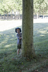 Julian hiding behind a tree (David_and_Marilyn_King) Tags: marlyleroi domaine national france 2016 visit walk park parc trees children playing hiding