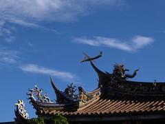 Confucious temple with jet - Taipei, Taiwan (ashabot) Tags: taipei taiwan travel seasia seetheworld blueskies