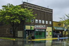 The Garden Theater - Frankfort (TAC.Photography) Tags: movietheater oldtheater garden gardentheater frankfortmichigan frankfortmovie frankforttheater rain reflections waterreflections leafhighlights tacphotography