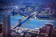 View from One World Observatory - Brooklyn Bridge -  New York City - USA (R.Smrekar-CH) Tags: bridge newyork smrekar usa tiltshift river airview d750 city 000100