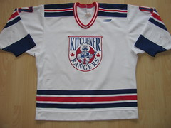 Kitchener Rangers 1998 - 2000 Game Worn Jersey (kirusgamewornjerseys) Tags: kitchener rangers ohl worn naylor game jersey ice hockey