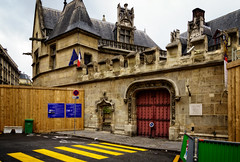 Access denied (Tigra K) Tags: paris france fr 2016 architecture carving city color door fence flag gargoyle museum road roof wall ledefrance