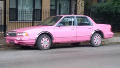 Pink Buick Century #1 (artistmac) Tags: chicago illinois il city urban street northside uptown howardbrown irvingparkroad sheridan buick buickcentury pink car automobile sedan rust marykay