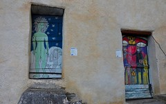 Valloria (118) (Pier Romano) Tags: valloria porte porta dipinta dipinte door doors painted imperia liguria italia italy nikon d5100 paese town dolcedo artisti pittori
