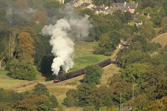 Getting on the move again (JamesHorrellPhotography) Tags: steam trains kwvr haworth keighley 43924 90733 5820 7822 railway