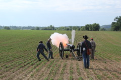 Opening Ceremony Cannon Fire (Monocacynps) Tags: artillery civilwarevents confederate demonstrations events fields interpretation july9 livinghistory mono monocacy naturalresources openingceremony parks rangerprograms sesquicentennialevents