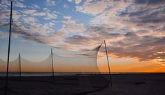 autumn on the beach (simo m.) Tags: beach seaside sand net emptiness landscape sunset