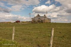 Keep on Truckin' (John H Bowman) Tags: ohio washingtoncounty barns ohiobarns weatheredwood tinroof fencesandgates blueskywhiteclouds october2016 october 2016 canon2470l