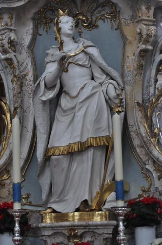 Staffelstein (Alemania). Basilica Vierzehnheiligen. Templete de los 14 Santos. Santa catalina