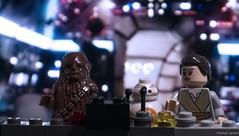 The new crew (bricklegowars) Tags: lego rey chewbacca legostarwars milleniumfalcom bb8 legography bricklegowars bricks cockpit droid