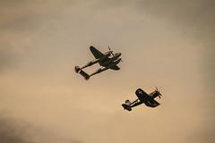 P38 & Corsair (krustyhimself) Tags: scalaria wolfgangsee salzkammergut austria 2014 airshow airchallenge theflyingbulls redbull lockheedp38lightning n25y chancevoughtf4u4 oeeas