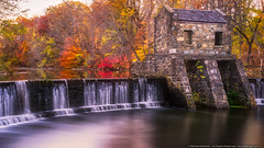Fall at Speedwell Park (mhoffman1) Tags: morristown nj sonyalpha whippanyriver a7r autumn dam fall longexposure seasonal stone waterfall newjersey unitedstates