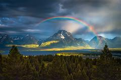 Nature's Halo (Fereshte Faustini) Tags: fereshtefaustini rainbow mount moran teton