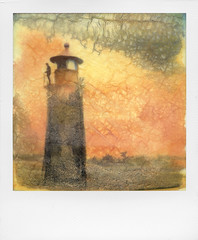 Fields of Dreams, remixed. Roid Week Day 4, No. 1 (Rhiannon Adam) Tags: roidweekday4 polaroidweek instantfilm polaroidphotographer instantlab ilab impossibleproject lighthouse roidweek denmark painted autumnroidweek