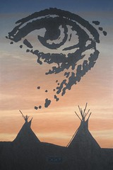 Spiritual Vision (Craig Walkowicz) Tags: spiritual mystical otherworldly transcendent sacred vision visualization sight eye watch observe tipi nativeamerican indian western sunset ccw