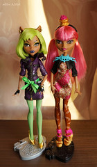 Clawdeen_Ginger (Alice_Milich) Tags: monster high ever after clawdeen wolf dawn dance ginger breadhouse dawnofthedance