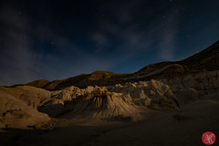 In the moonlight (Kasia Sokulska (KasiaBasic)) Tags: canada alberta drumheller hoodoos fujix landscape rockformations night