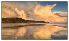 Evening run - Landscape Photographer of the Year Commended (mistymornings99) Tags: footprints beach landscape sunset cloud water refelection sky time photostyles coast sand sea newgale wales unitedkingdom gb