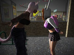 Sibling Rivalry (Ashley Densu) Tags: gamer family maitreya crie catwa lcky geek nerd game sibling geeksnnerds pkd salem erratic deetalez speakeasy cherryfluffe neko decoy shabbycat addams rocker princess backpack labaguette