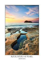 Rockpools at Pearl Beach (sugarbellaleah) Tags: pearlbeach travel tourism vacation pretty rockpool water weathered ocean lionisland sea seascape rocks seaweed erosion island sky morning sunrise texture australia nsw getaway relaxation tranquil serene beautiful