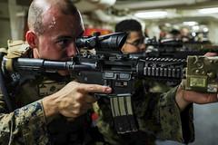 161020-N-LR795-047 (SurfaceWarriors) Tags: usnavy usssomerset 11thmarineexpeditionaryunit 11thmeu marines sailors deployment drill weaponstraining amphibioustransportdockship pacificocean california unitedstates