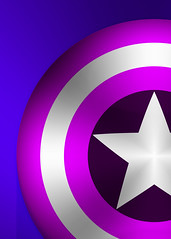 hero icon (Arymis100) Tags: illustrator icon star shield captain america pink blue hero vector comic marvel photoshop