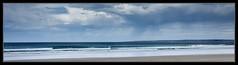 rain beginning out at sea (tsmpaul) Tags: rain clouds cloudy cloud sand sandypoint leongatha sea seascape shore beach water waves capeliptrap liptrap cape canon eos600d rebelt3i kissx5 panorama