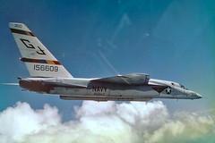 RVAH-3 RA-5C Vigilante BuNo156609 (skyhawkpc) Tags: northamerican rvah3seadragons ra5c vigilante 156609 gj300 inflight 1970 officialusnavy navy usn naval aviation aircraft airplane usnavy