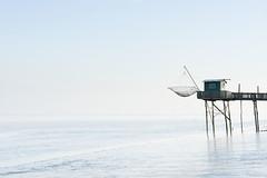 Carrelet fishing hut near Bordeaux (David Bertho) Tags: carrelet fishing hut shack stilts stilt gironde estuary bordeaux france french travel tourism traditional bluesky minimalist