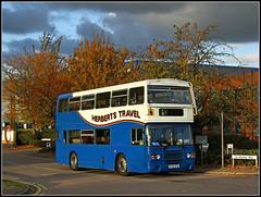 Herberts Travel B740 GCN (Jason 87030) Tags: herberts travel private dramtic weather sky light kids children school work leyland olympian doubledecker blue ecw november 2016 b740gcn