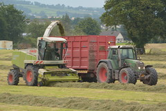 Claas Jaguar 890 SPFH filling a Broughan Engineering Mega HiSpeed Trailer drawn by a Fendt 820 Vario Tractor (Shane Casey CK25) Tags: claas jaguar 890 spfh filling broughan engineering mega hispeed trailer drawn fendt 820 vario tractor agco green castlelyons silage silage16 silage2016 grass grass16 grass2016 winter feed fodder county cork ireland irish farm farmer farming agri agriculture contractor field ground soil earth cows cattle work working horse power horsepower hp pull pulling cut cutting crop lifting machine machinery nikon d7100 traktori tracteur trekker traktor trator cignik