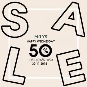 HAPPY WEDNESDAY SALE 50%
