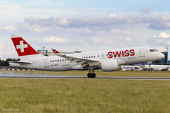 Swiss CS100 HB-JBA (birrlad) Tags: prague prg international airport czech republic aircraft aviation airplane airplanes airline airliner airlines airways approach arrival arriving finals landing landed runway swiss bombardier cseries cs100 hbjba bd5001a10 bcs1