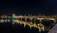 Basel Mittlere-Brcke (Radek Lokos Fotografie) Tags: basel mittlerebrcke nacht night schweiz brcke bridge ch