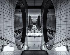 Metro Cathedral (katrin glaesmann) Tags: ubahnhof metro tube station workshop frankfurt u4 monochrome bockenheimerwarte debene blackandwhite