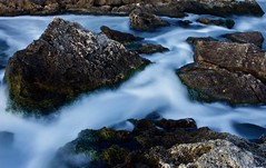 Soft and Hard (GianlucaChincoli) Tags: water stream rocks white blue sea canon light dark slow shutter speed exposure tripod